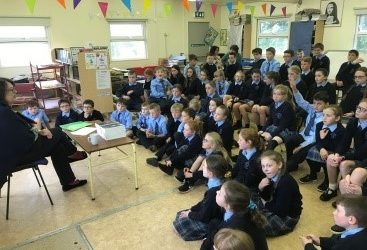 Author Olive Mooney visits school