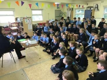 Author Olive Mooney visits school