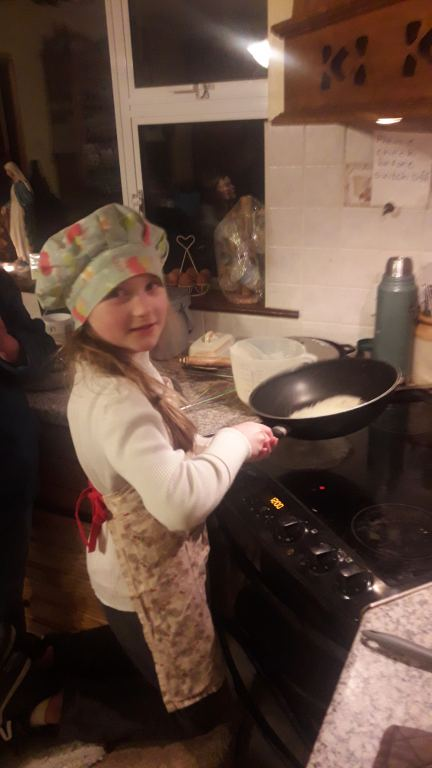 Celebrating Pancake Tuesday.