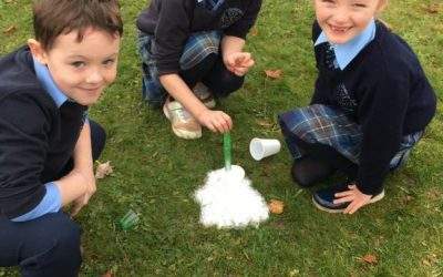 Science Week in Senior Infants and First Class.