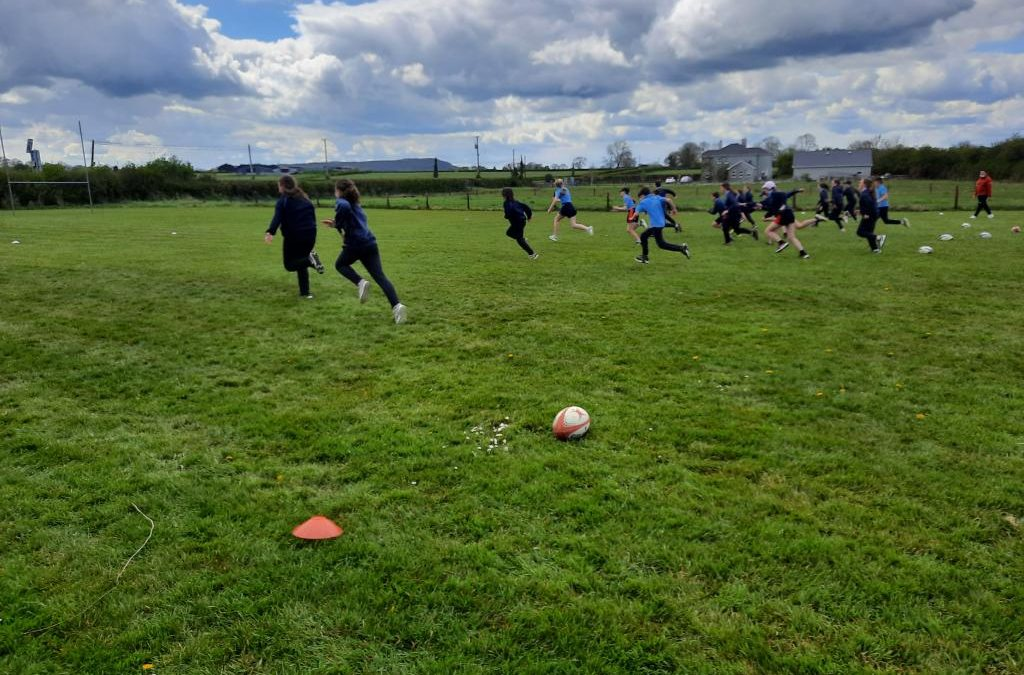 Rugby coaching with Aidan Butler.
