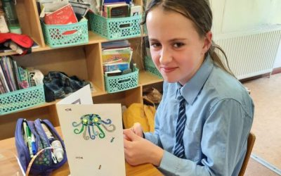 STEAM – 5th and 6th Class Design and make a light up gift card.