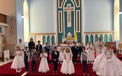 First Holy Communion.